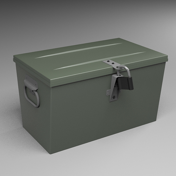 Army box - 3DOcean Item for Sale