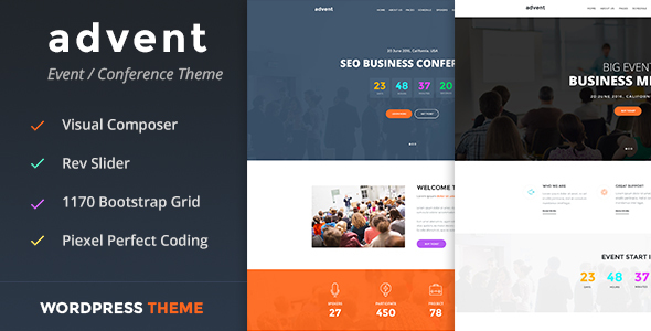 Image of Advent - Conference & Event WordPress Theme