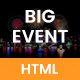 BigEvent - Event, Conference & Meetup HTML Template