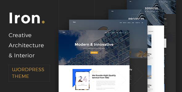 Download Iron - Architecture, Interior and Design WordPress Theme