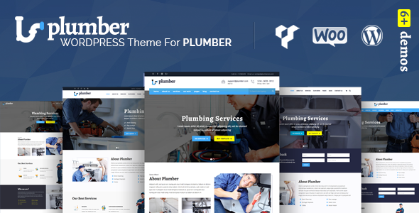 Фото Wordpress Шаблон  Plumber Pro - WordPress Plumber Theme — plumberss.  large preview