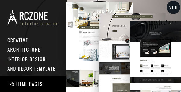 Arczone interior design decor architecture html for Addison interior design decoration wordpress theme nulled