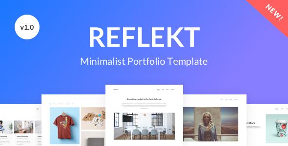 Download Reflekt - Minimalist Portfolio Template