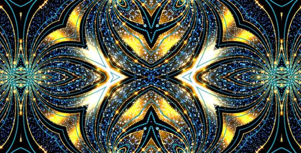VideoHive Yellow-Blue Designs Kaleidoscope 19614695