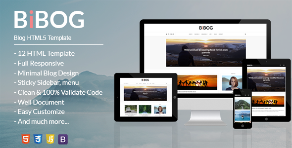 BiBOG - Blog HTML5 Template