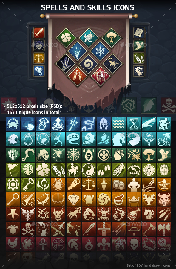 Spells and Skills Icons (Miscellaneous)