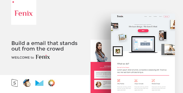 Image of Fenix - Responsive Email Template Minimal