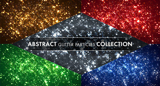 Abstract glitter particles collection