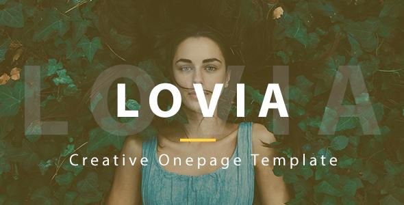 Lovia Creative Onepage Template