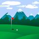Golf field landscape - GraphicRiver Item for Sale