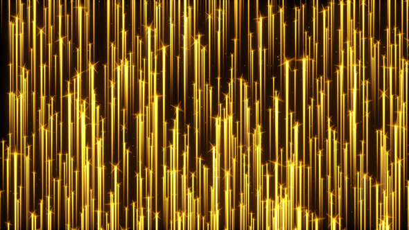 VideoHive Golden Particle Streaks Rising 19616703