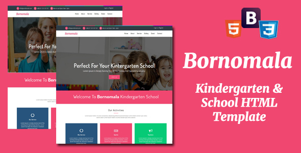 Download Bornomala - Kindergarten & School HTML Template