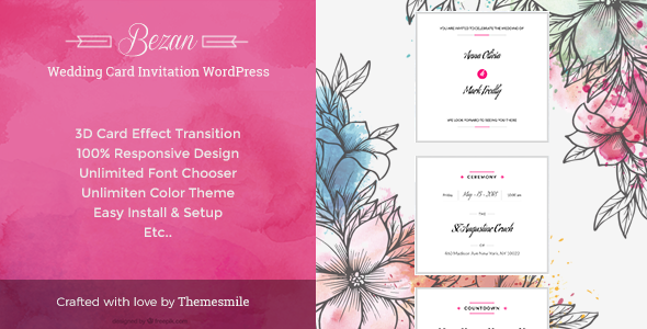 Wedding Card Invitation  WordPress