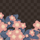 Isolated Blooming Flower Frame