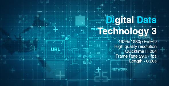 VideoHive Digital Data Technology 3 19617612