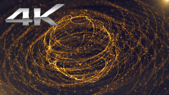 VideoHive Gold Sphere Lines and Particles 19618088