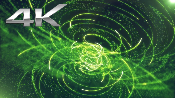 VideoHive Hud Element Background Particles Green 19618097