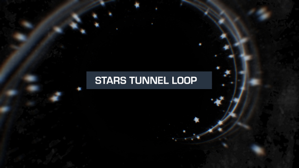 VideoHive Silver Stars Tunnel Loop 19619462