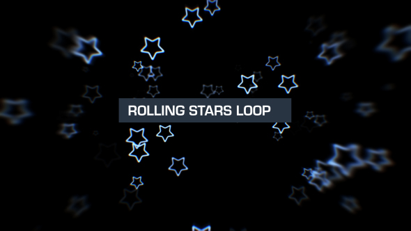 VideoHive Rolling Stars Silver 1 19619495