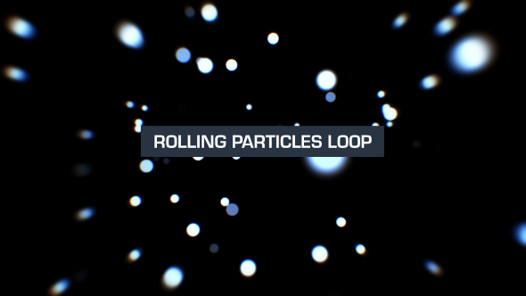 VideoHive Rolling Particles Silver 19619542