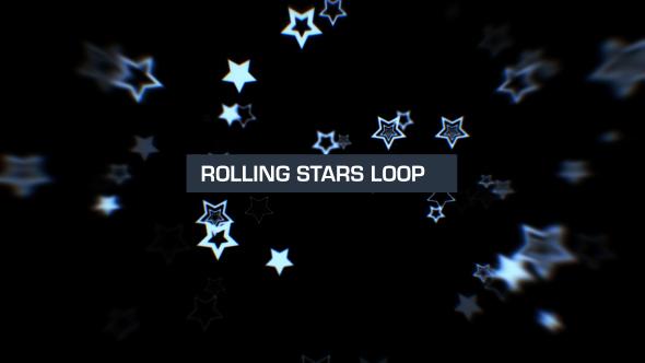 VideoHive Rolling Stars Silver Loop 6 19619559