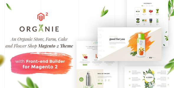 Organie - An Organic Store, Farm, Cake and Flower Shop Magento 2 Theme