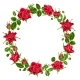Decorative Wreath with Red Roses