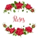 Decorative Elements with Red Roses