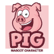Pig Mascot Character