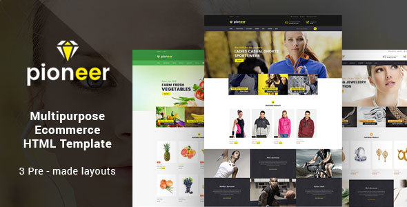 Pioneer - Responsive Multipurpose E-Commerce HTML5 Template