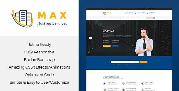 Download Max Hosting - Responsive Hosting HTML Template