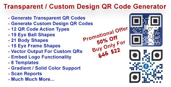 Download Transparent & Custom Design QR Code Generator