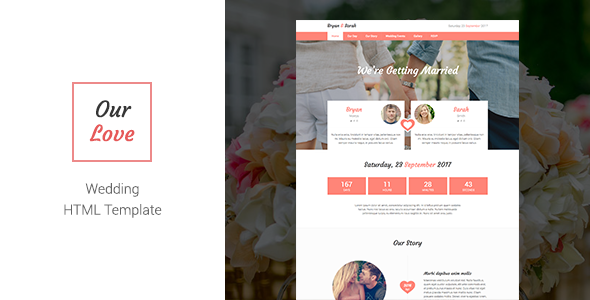 Our Love - Responsive HTML Wedding Template