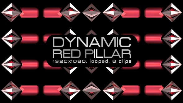 VideoHive Dynamic Red Pillar VJ Pack 19621222