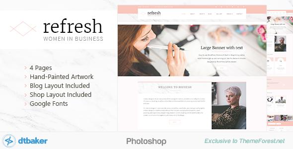Refresh - Women in Business - Shop & Blog PSD