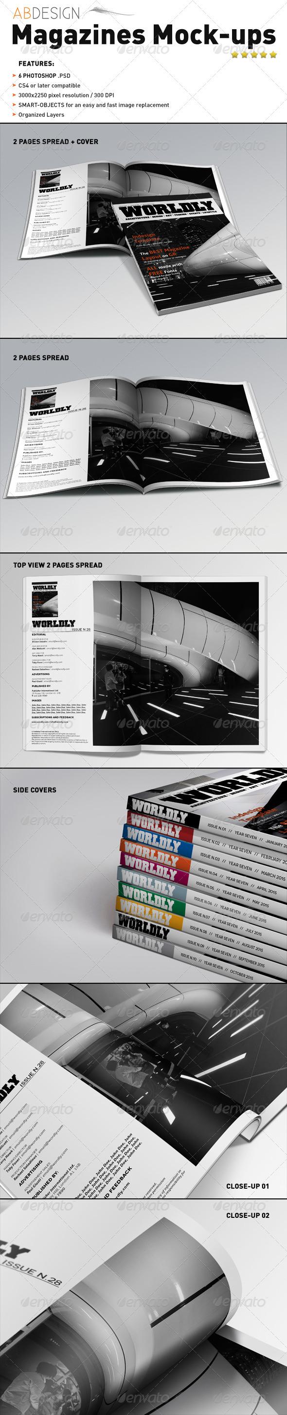 GraphicRiver Realistic Magazines Mock-ups Templates 1623692