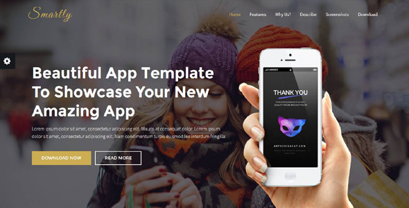 Download Smartly - App Landing Page