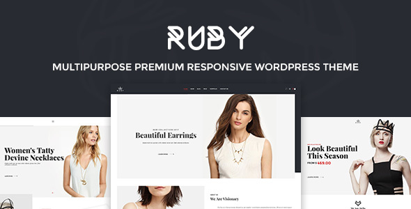 Фото Премиум шаблон Wordpress  Ruby - Fashion Responsive WordPress Theme — 01 preview.  large preview