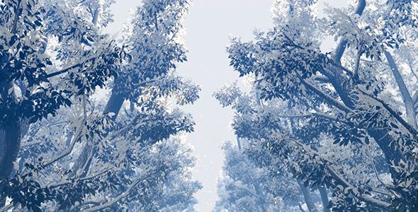VideoHive Deciduous Plants In Snow 19622602