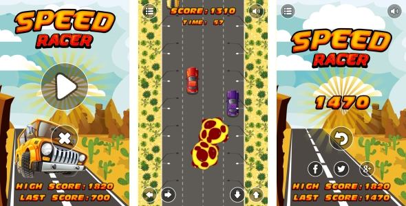Speed Racer – HTML5 Game + Android + AdMob (Capx) (Games)
