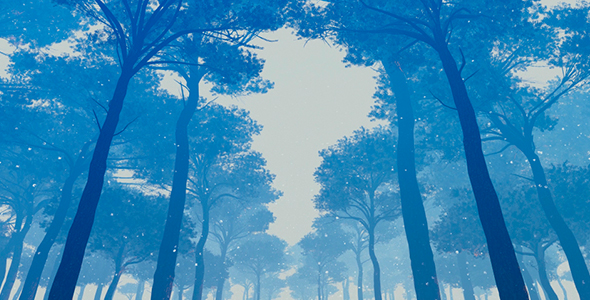 VideoHive Journey Through The Murky Winter Forest 19622753