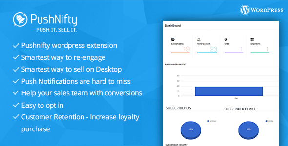 Pushnifty – Push Notification Marketing for Wordpress - CodeCanyon Item for Sale