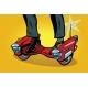 Futuristic Steampunk Scooter Skateboard