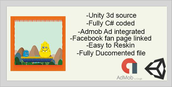 Monster Hunt for Flag | Complete Game |UNITY 3D | ADmob ads integrated (Games) Download