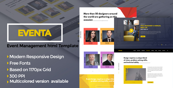 Image of Eventa - One Page Event HTML Template