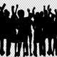 Crowd Of People Dancing Silhouette