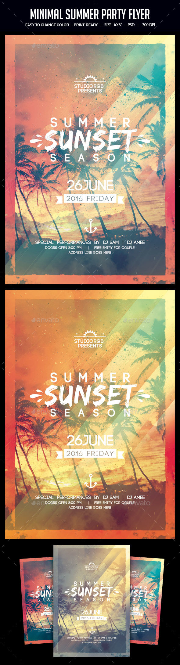 Minimal Summer Party Flyer
