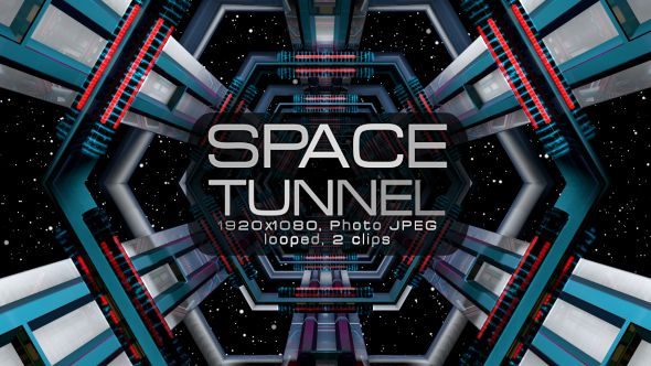 VideoHive Space Tunnel VJ Pack 19624867