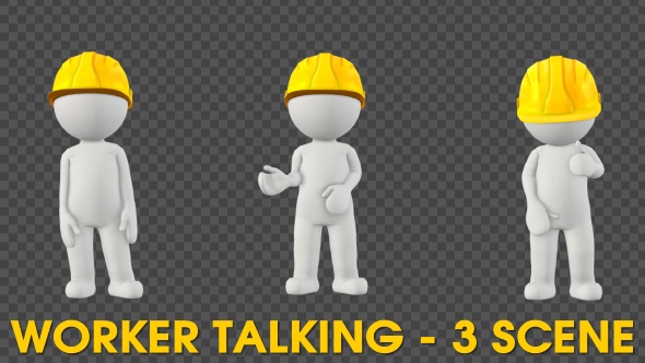 VideoHive Worker Character Talking Pack 3 Scene 19625032