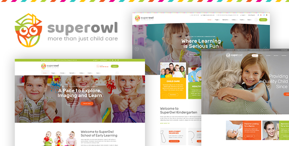 Download SuperOwl - Kindergarten, School of Early Learning, Nanny Agency HTML Template
